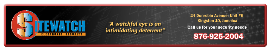 Sitewatch Electronic Security 876-925-2004, Jamaica